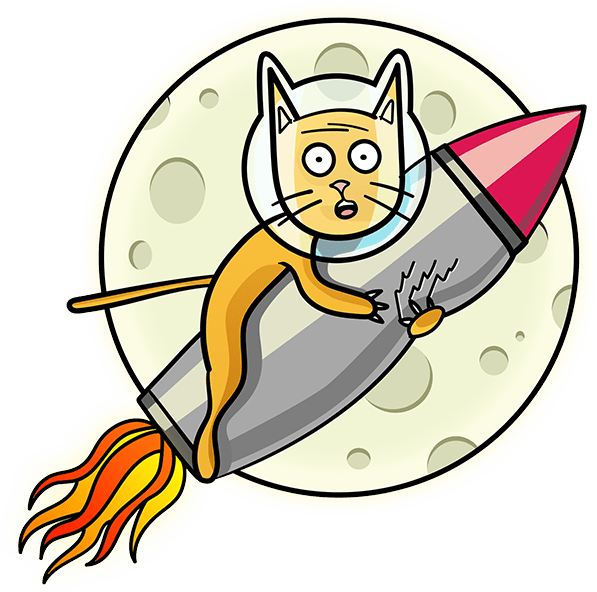 Kitty on a Rocket